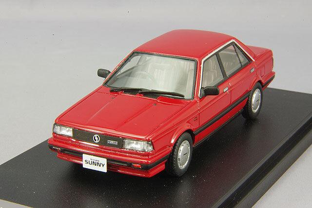1 43 Hi-Story Nissan Sunny 1500 súper Sedán (1987) HS146RE Rojo