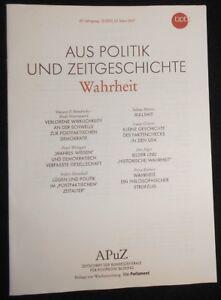 APUZ - Wahrheit. 27. März 2017 - NRW , Deutschland - APUZ - Wahrheit. 27. März 2017 - NRW , Deutschland