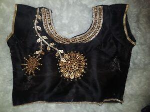 Saree Blouse New Readymade Designer Sari Choli Indian Party Wear Bollywood Dress