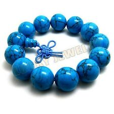 14mm Turkois Beads Tibet Buddhism Bracelet