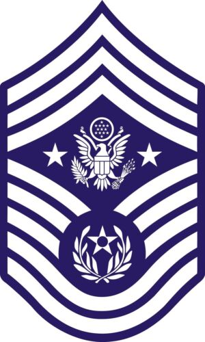 Chief Master Sergeant of the U.S Sticker   Air Force Rank Insignia Decal