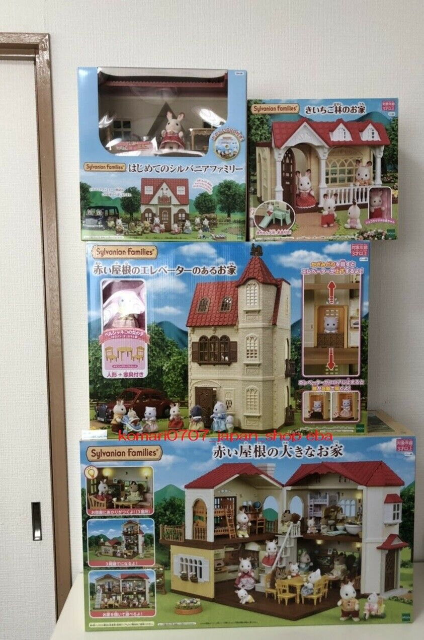 Sylvanian Families BIG HOUSE WITH rot ROOF Complete Set japan anime animal doll