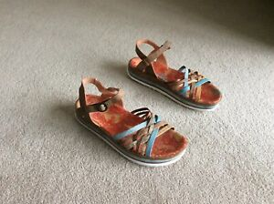 Women-s-Think-Zega-Multicoloured-Leather-Sandals-Size-Eur-42-U-K-8
