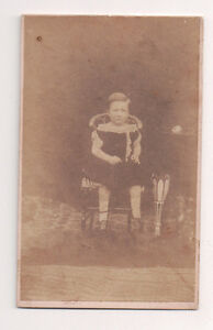 Vintage-CDV-Unknown-Young-Girl-on-a-chair-Well-Dressed