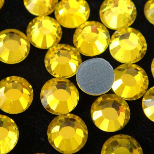 1440 un. 10 Bruto pedrería de calidad superior de cristal checo DMC Hotfix Dorso duro para Libros de hierro