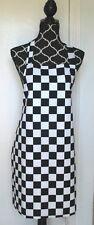 Full Size Adult Apron - BLACK & WHITE CHECKS - All Handmade