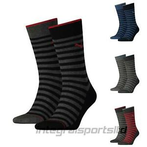 Puma-Mens-Socks-Classic-Stripe-Cotton-Sports-Crew-Sock-2-Pair-Pack-UK-6-14