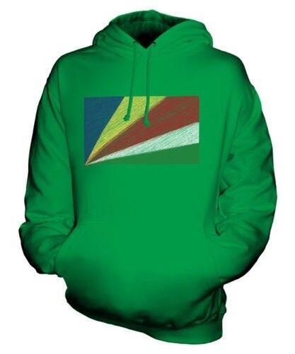 Seychellen Scribble Flag Unisex Kapuzenpulli Top Geschenk Sesel Seychellische