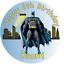 "Batman   personalised  Edible icing sheet cake topper 7.5/"" Round Birthday"