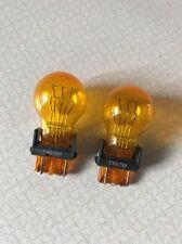 2x 3157 Amber Bright Daytime Running Bulbs Brake Light Turn Signal Lamps 3157NA