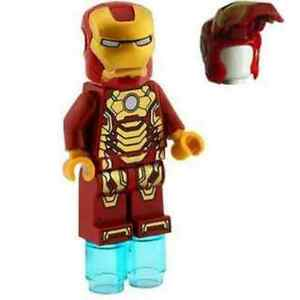 GENUINE-LEGO-Iron-Man-Mark-42-Armor-SH072a-2013-Minifigure-76007-WOW