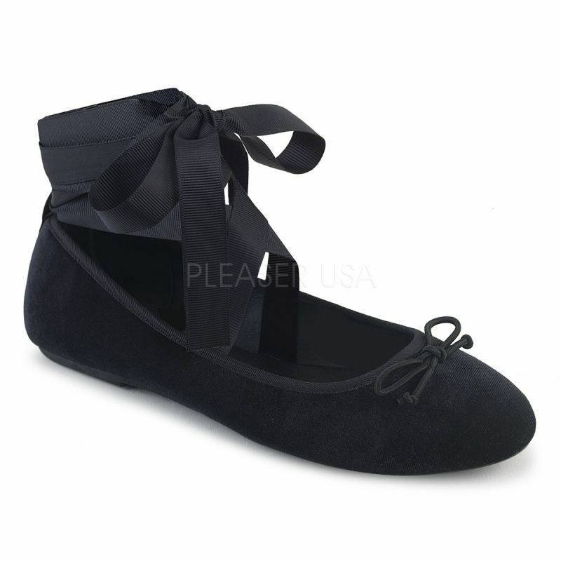 Demonia negro bailarinas Drac - 03 negro Demonia 26c5e8
