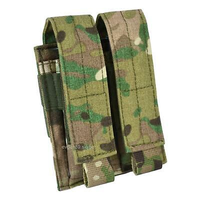 """SPOSN SSO Pouch For 2 Pistol MAGS /""""Vector/"""" Molle Original Russian Army Black"""