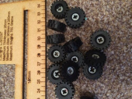FREE POST Insert Technic *CHEAPEST ON #AU 4 x LEGO Wheels Tyre/'s Rubber