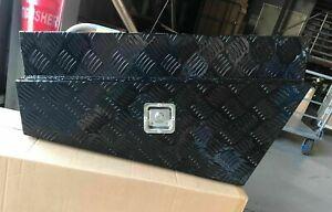 OZI4X4-Ute-Underbody-Tool-Box-PAIR-Aluminium-Black-Checker-Plate-750x450x250mm