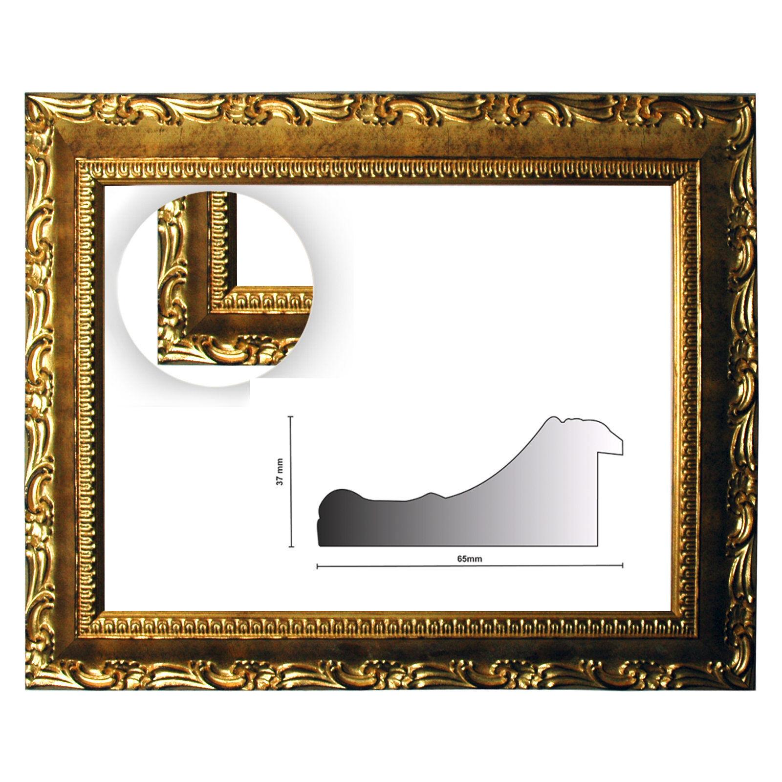 Baroque frame oro finemente decorato decorato decorato 952 oro, diverse varianti 079b82