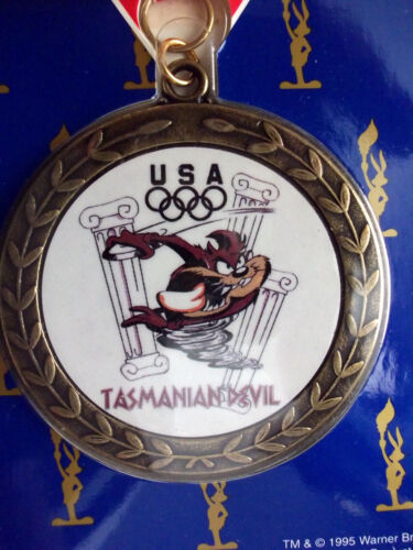 TASMANIAN DEVIL Looney Tune Award Medal Olympic Kid/'s Medal Future Olympian