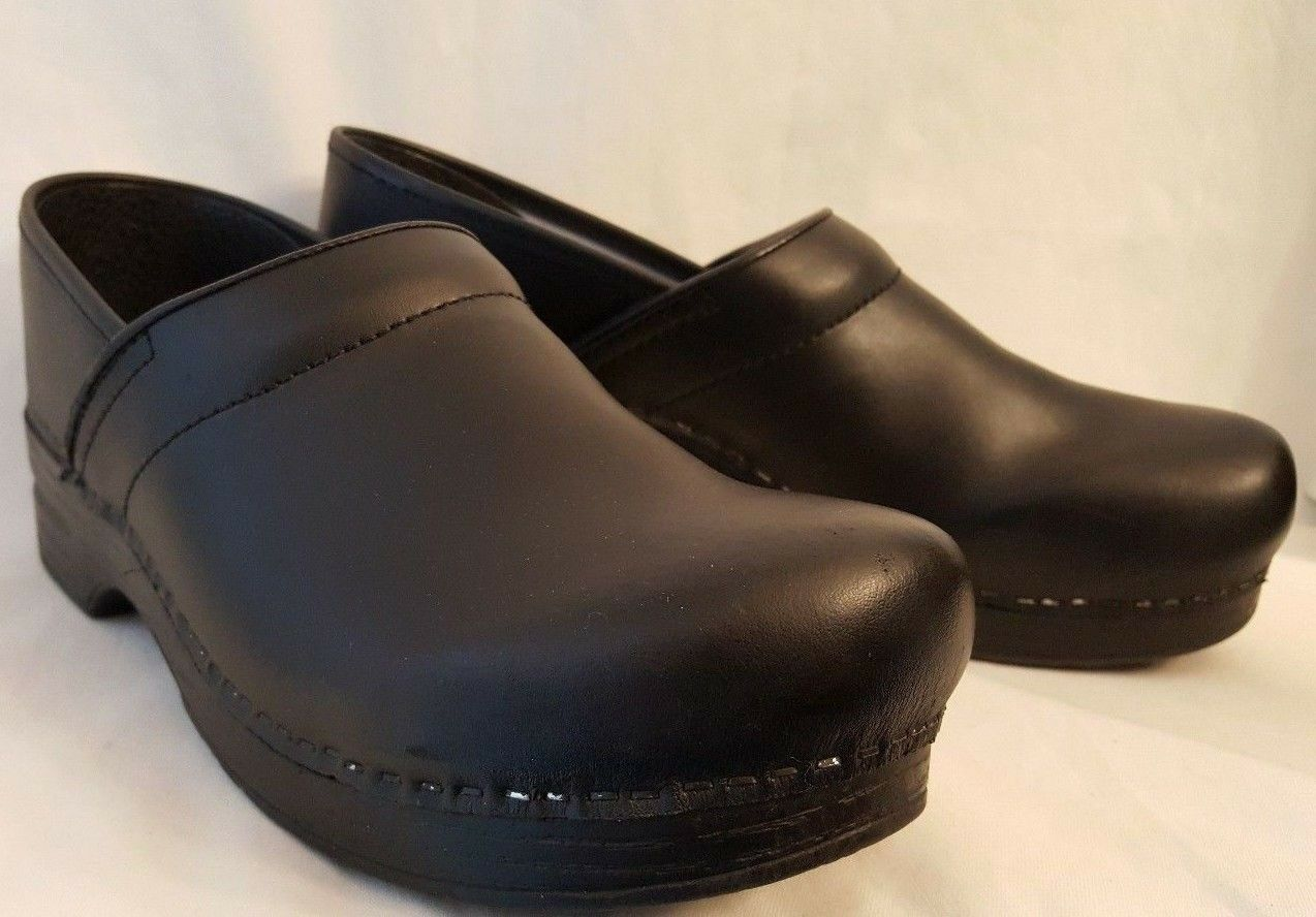 Zapatos De Cuero Dansko clogs Negro Mujeres 12.5-13 | | | 9.5-10 para hombre 506c00