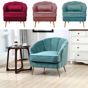 Medium Bedroom Fireside Velvet Fabric Armchair Side Single Sofa