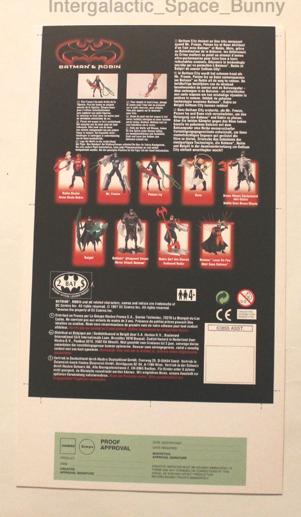 1997 Kenner Batman & Robin Poison Ivy Proof Card Prototype Pre-Production