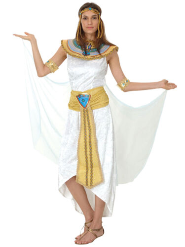 Ladies Cleopatra Egyptian Queen Of The Nile Egypt Fancy Dress Costume Outfit New