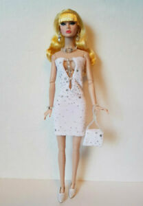 Poppy-Parker-Doll-Clothes-Hand-Beaded-Dress-Purse-and-Jewelry-Fashion-NO-DOLL