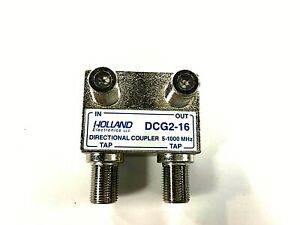Details about Holland Electronics Wall Tap Directional Coupler Splitter 16  dB 2 Output DCG2-16