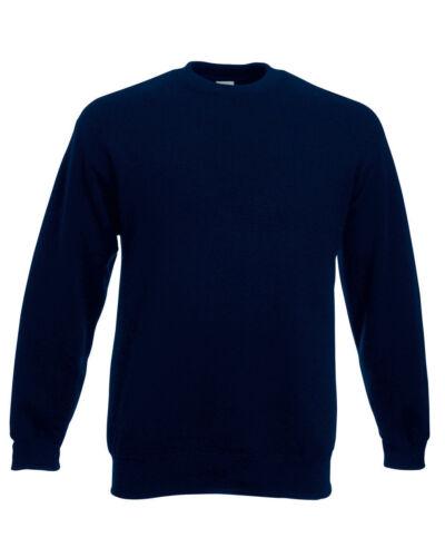 11-Colour Fruit Of The Loom Men/'s Classic Set-In Sweatshirt
