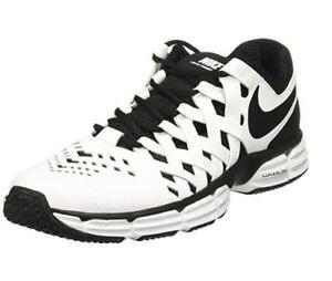 Men's Nike Lunar Fingertrap Cross Trainer Shoe (4E-Wide) White/Black 898065 100