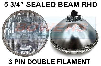 """BSA Triumph Norton 7/"""" projecteur Scellé Projecteur Conversion Halogène pilote de H4"""