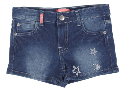 Girls' Stretch 5 Pockets Premium Shorts with Embroidery
