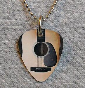 metal guitar pick necklace acoustic guitar six string pendant charm music ebay. Black Bedroom Furniture Sets. Home Design Ideas