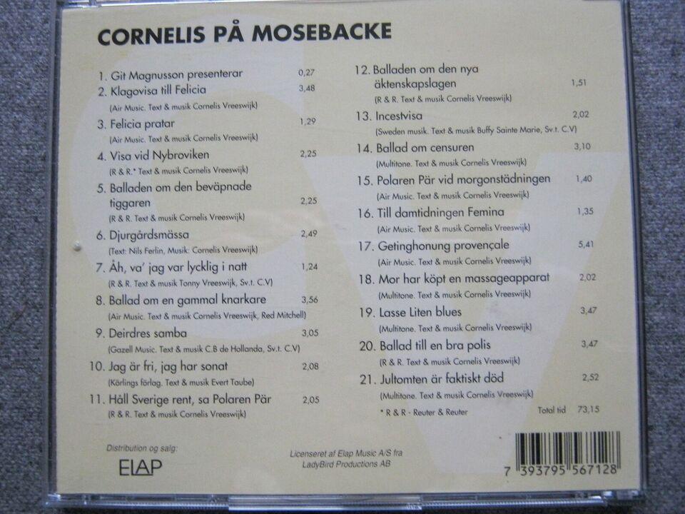 Cornelis Vreeswijk:: Cornelis på Mosebacke, folk