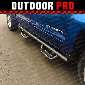 Chevy Silverado Side Steps >> Details About For 07 18 Chevy Silverado Crew Cab Black Nerf Bars Side Steps Running Boards