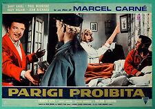 T48 FOTOBUSTA PARIGI PROIBITA MARCEL CARNE' DANY SAVAL PAUL MAURISSE DELAIR 6