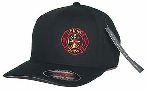 Image is loading Custom-Order-Fire-Department-Flexfit-Fitted-Hat 145d08a68ff