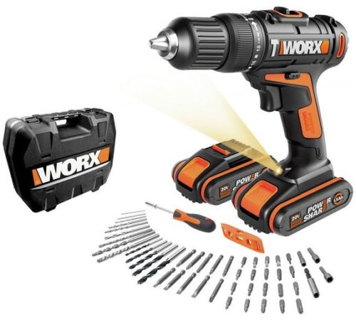 20V It Makes Your Drilling Job Easy WORX Hammer Drill with Accessories