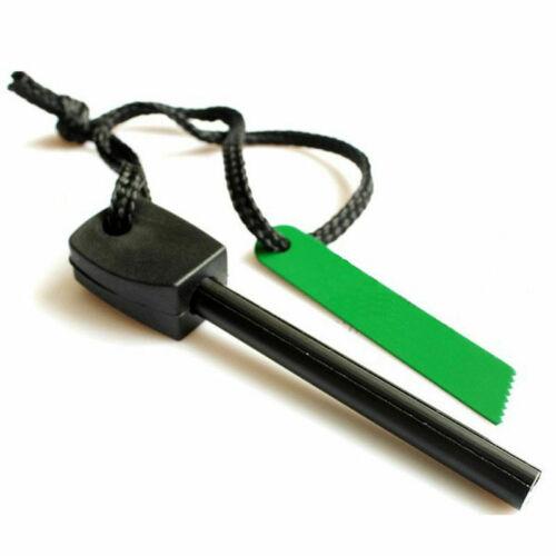 Survival Magnesium Flint And Steel Striker Fire Starter Lighter Stick Camping 1X