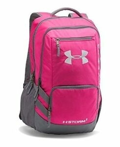 Under Armour Backpack Hustle II Storm1 Tropic Pink   Gray Unisex 1263964 654 8082effd7543d