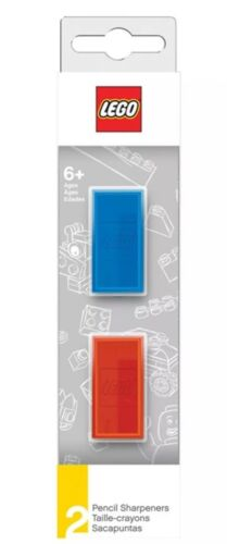 Brand New In Box. Lego Blue//Red Manual Pencil Sharpener