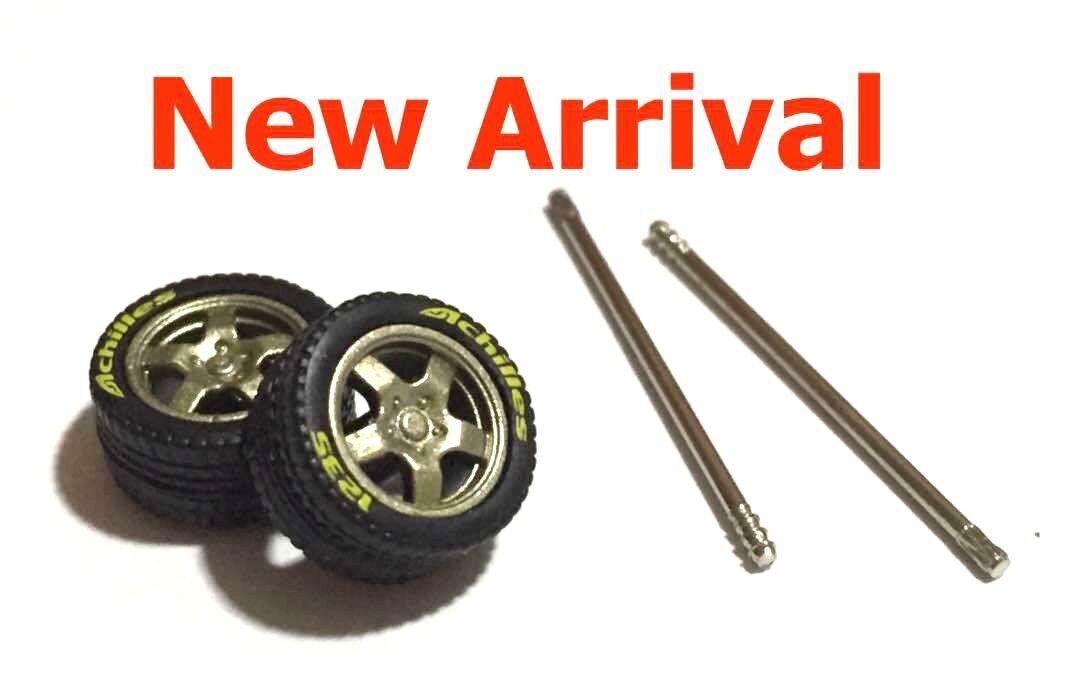 1 64 Neumáticos De Goma Llantas De Bronce-CE28 + + + T5 ajuste Kyosho Hot Wheels Diecast - 5 Juegos 1cb02c