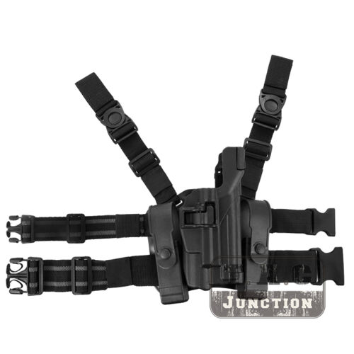 Tactical Level 3 Serpa Light Bearing Right Drop Leg Holster for Beretta 92 96 M9