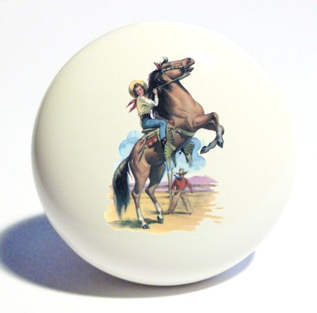 COWBOY COWGIRL HORSE HOME DECOR CERAMIC KITCHEN  KNOB DRAWER CABINET PULL