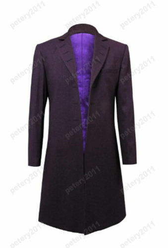Purple Coat Cosplay Costume Who is Doctor Eleventh 11th Dr