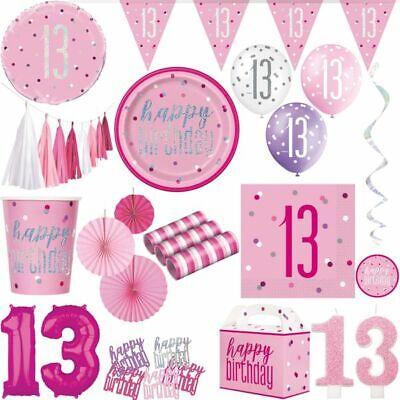 Geburtstag Deko pink rosa Party Dekoration Set Mädchen Geburtstagsdeko 13