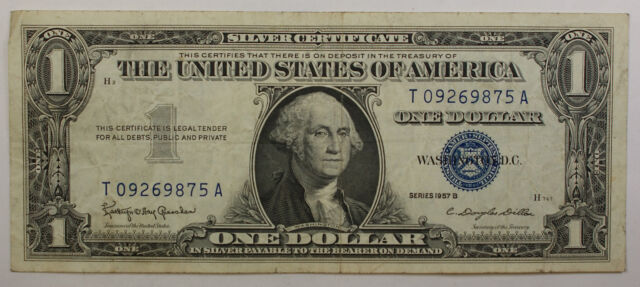 1957 One Dollar Silver Certificate Notes Vg-vf Old US   eBay