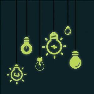 Glow-in-the-Dark-Light-Bulb-Vinyl-Wall-Stickers-Wall-Decals-Wall-Art