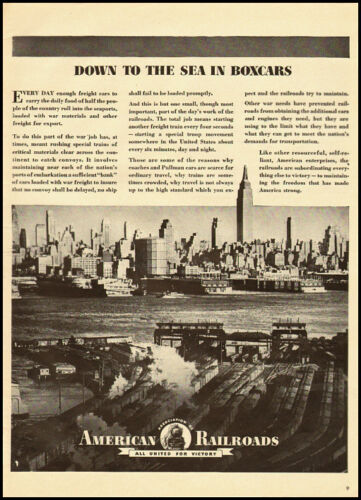 1943 vintage WW2 ad for American Association of Railroads 010712