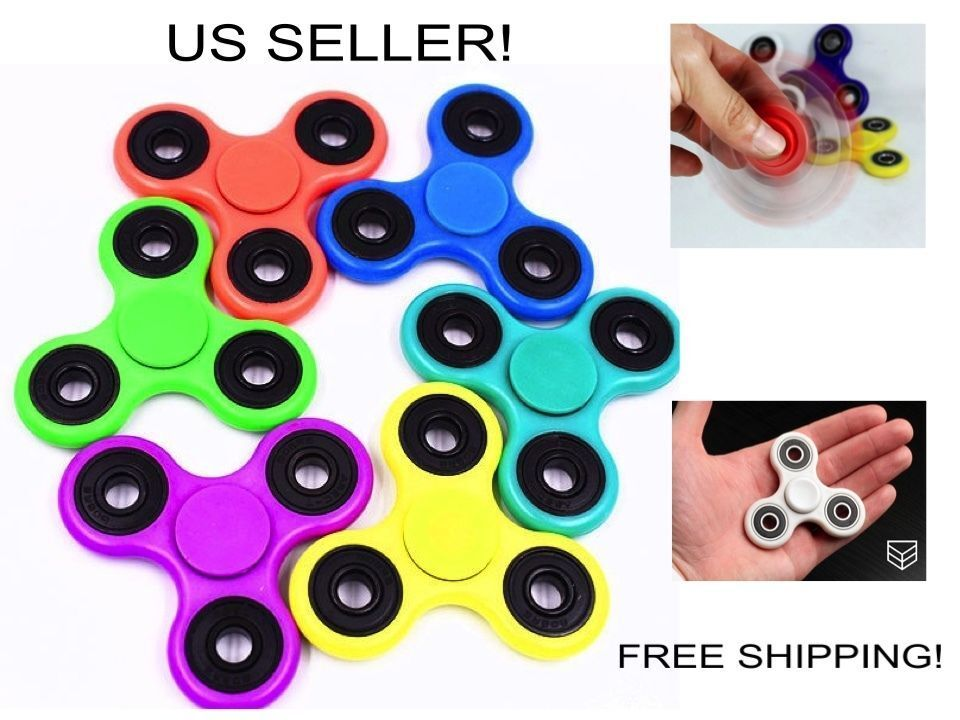 60 Wholesale Fidget Spinner Hand Plastic Toy ADHD Autism ASD Kids Adults-USA