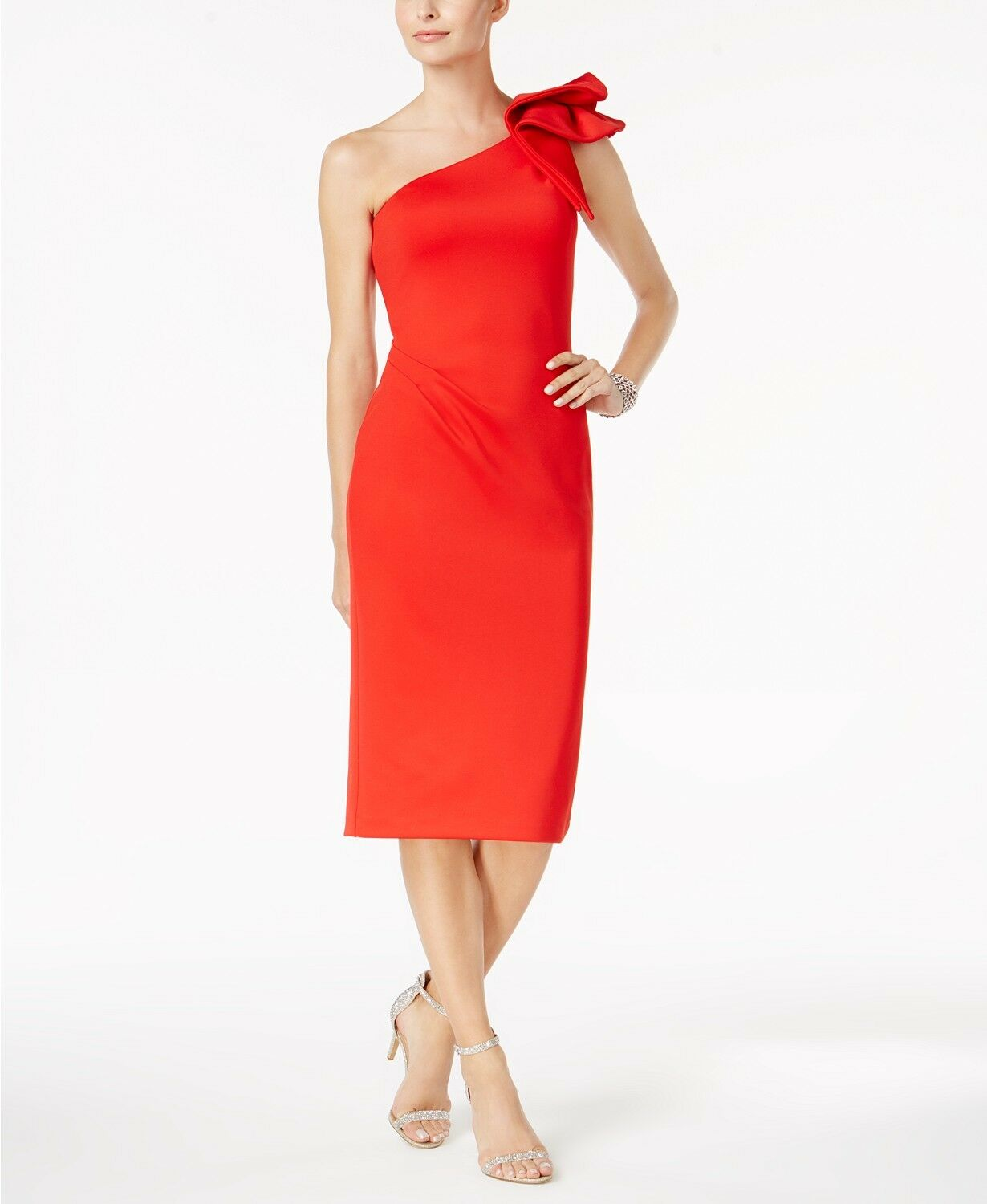 One shoulder petite christmas dresses #13